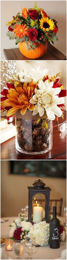 fall wedding centerpiece ideas #weddingideas #weddingdecor #fallwedding #autumnwedding