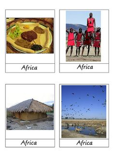 Africa cards for continent boxes/folders