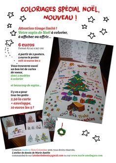 cartes de voeux et posters à colorier pour préparer les fêtes...