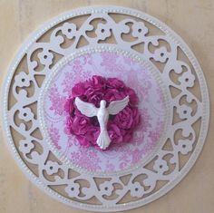 Mandala da Proteção para seu lar do Divino Espirito Santo em MDF