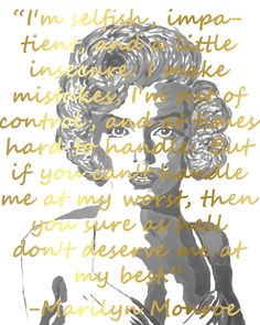 Marilyn Monroe Portrait Giclee Canvas Art Print Marilyn Monroe Wall Decor 8x10, 11x14 or 16x20 On Gallery Wrapped Canvas by Artist Amber McDowell. Giclee canvas art print of my original Marilyn Monroe painting. I have added some graphics to this piece, including an inspirational quote by Marilyn Monroe. The letters are gold in color. Gallery wrapped canvas is printed with 100% archival inks with a 12 color process for perfect vibrant colors. These prints come with hanging hardware…