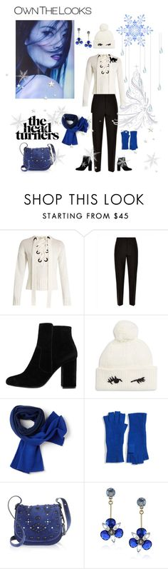 """""""Own the Looks Sweater Contest"""" by spiderwoodhollow ❤ liked on Polyvore featuring Joseph, Jaeger, MANGO, Kate Spade, Lacoste, Halogen and Coach 1941"""