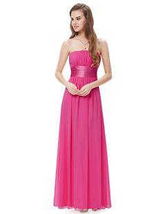 Ever Pretty Empire Waist Bowtie Strapless Evening Dress 09060: Amazon Fashion