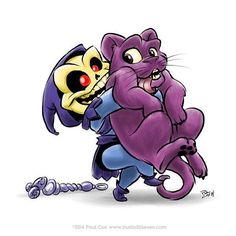 It's #NationalPetDay! Give your pet a hug and an extra treat! #CatsofInstagram #Catstagram #Cats #Skeletor #Panthor #MastersoftheUniverse #MOTU #Kitten #Kitteh  #Art by Steve Cox of studio30seven.com