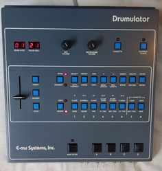 EM-U DRUMULATOR; I was saving up to buy one of these when the Korg came out, never have owned one. I sometimes wonder if my music would have gone in different directions with different kit. Update, have got samples! Emu, Drum Machine, Vintage Keys, Electronic Music, Music Stuff, The Expanse, Drums, The Voice, Music Production