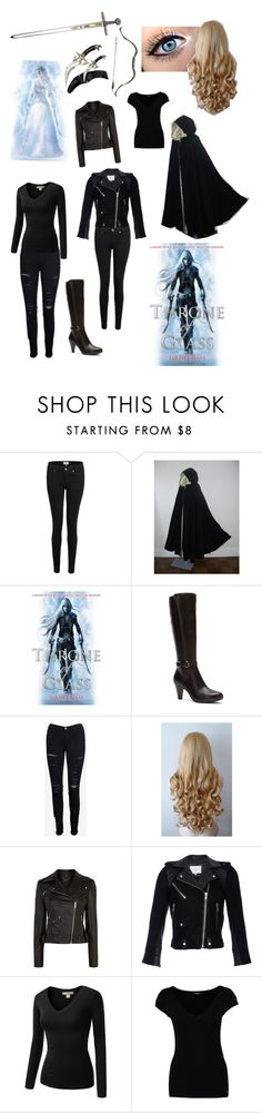 """""""Celaena Sardothien from Throne of Glass by Sarah J. Maas"""" by read-read-read ❤ liked on Polyvore featuring Paige Denim, Blondo, Frame Denim, Karen Millen, IRO, J.TOMSON and Morgan"""