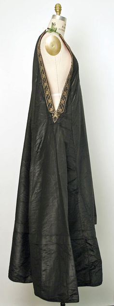 Dress    Date:      19th century  Culture:      Algerian  Medium:      silk, cotton, metal thread  Dimensions:      Length at CB: 61 in. (154.9 cm)  Credit Line:      Gift of Mrs. Raphael Stora, 1947  Accession Number:      C.I.47.67