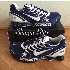 Unisex Dallas Cowboys Nike Turbo Shox by BlinginBlitz on Etsy Dallas Cowboys Shoes, Dallas Cowboys Women, Dallas Cowboys Football, Cowboys Players, Football Gear, Football Outfits, Football Baby, Denver Broncos, Cowboy Love