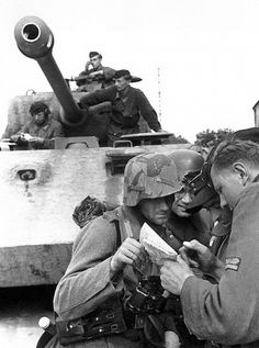Elements of the Panzer Lehr. Near Tilly-sur-Seulles June 9, 1944.