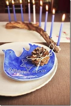 This year, Thanksgiving and the first day of Hanukkah are on the same day.  The Beauty You Love blog shares some ideas on how to incorporate both holidays in your table decor.