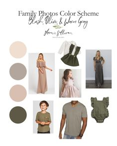 Fall Family Picture Outfits, Spring Family Pictures, Christmas Pictures Outfits, Family Picture Colors, Family Pics, Family Photography Outfits, Family Portrait Outfits, Clothing Photography, Neutral Family Photos
