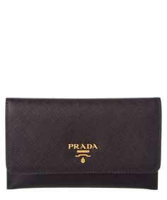 Prada Prada Saffiano Leather Credit Card Holder