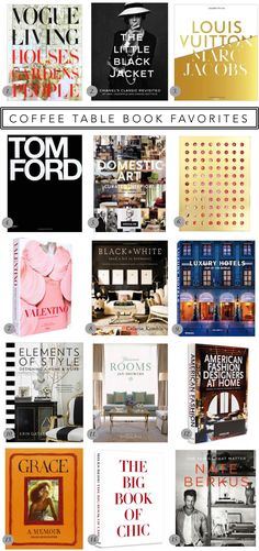 Coffee table book favorites