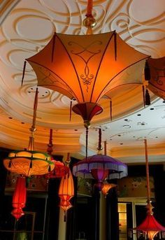 bamboo lamp with parasol shade - Google Search
