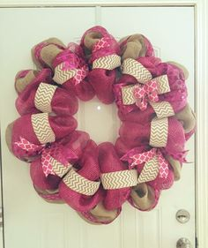 Breast cancer wreath for Iman
