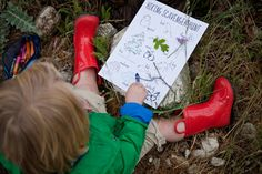 Explore the outdoors with a hiking scavenger hunt for the little ones!