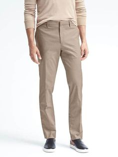 Banana Republic Mens Standard Non Iron Stretch Houndstooth Pant