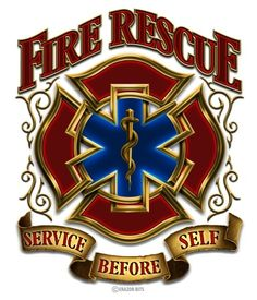 Fire Rescue Service Before Self Decal
