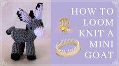 Knitting Loom Dolls, Mini Goats, Mini Donkey, Easter Baskets, The Creator, Blog, Pattern, Youtube, Patterns