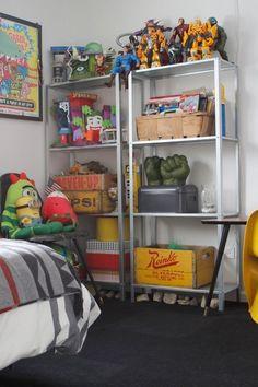Quinns Room of Treasures, little boy stuff!