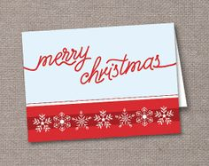 handmade, Snowflake Handwriting Merry Christmas Cards