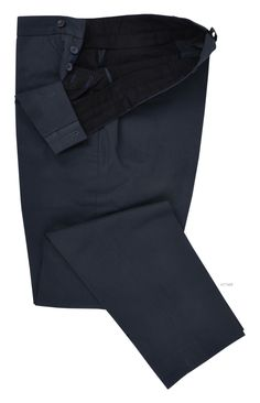 Luxire dress pants constructed in Navy Twill Chino: http://custom.luxire.com/products/navy-twill-chino  Consists of front slant pockets, custom made closure and 2-rear pockets.