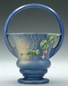 A Roseville Pottery Fuchsia basket