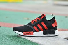 low priced 19b14 84cfe Adidas NMD Runner Pk Black Red Men Women Shoes Adidas Nmd, Adidas Zx Flux,  Adidas