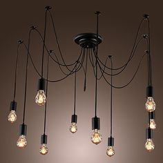 Chandelier Vintage Design Bulbs Included Living 10 Lights – USD $ 119.99