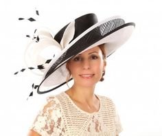 Snoxell Gwyther - Occasion Hat (Black/white) - Wedding Hats   Occasion Hats