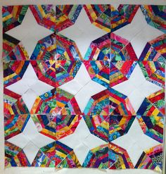 Kaffe Fassett Spiderweb Quilt in progress | Flickr - Photo Sharing!