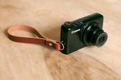 Leather Compact Camera Wrist Strap  FREE by OakAndAwl on Etsy