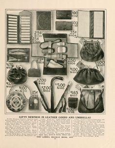 Gimbel holiday book, 1915. Handbags: Silk, beaded, and leather.