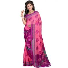 Scenic Multi Color Faux Georgette Printed Saree at just Rs.430/- on www.vendorvilla.com. Cash on Delivery, Easy Returns, Lowest Price.