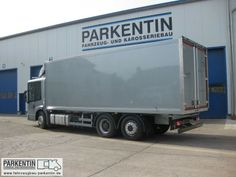 Cold storage lorry with FIscher Panda PVK-UK generator installed below chassis