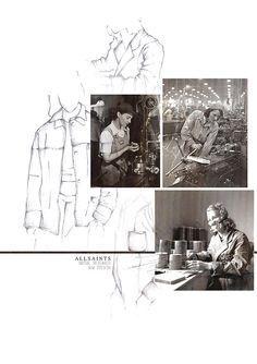BOONSITA SINGHTOTHONG | ALLSAINTS: DUTY.  fashion design, fashion, portfolio, layout, art, drawing, sketching All Saints, Portfolio Layout, Fashion Portfolio, Working Class, Digital, Drawings, Sketching, Fashion Design, Inspiration