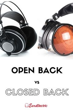 Have you ever wondered what the difference is between open and closed back headphones? Well, it matters a lot more than you think. Audiophile Headphones, Headset, Cool Gadgets, Over Ear Headphones, Dj, Tech, Collection, Headphones, Technology