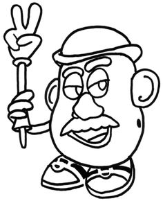 mr potato head peace toy story coloring pages