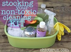 Stocking Your Non-Toxic Cleaning Kit from Chiot's Run. A really great cleaning blog with lots of good tips.. like making your own homemade bleach.
