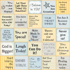 Free printable Encouraging Lunch Box Notes for Kids / shari lynne @ Faith Filled Food for Moms