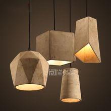 Cemento Vendimia Nordic Loft Pasillo Luz de Techo Lámpara de Araña Colgante Bola Bar Cafe Tienda Sala Droplight Dormitorio Decoración Para El Hogar(China (Mainland))