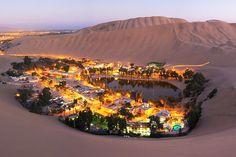 25 lugares incríveis pra viajar na América do Sul - Huacachina,Peru