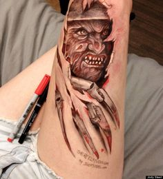 Leg Drawings: Ripped Skin, Cats And Breaking Bad Featured On Jody ...