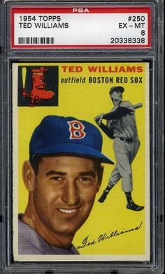 1954 Topps TED WILLIAMS #250 Red Sox - PSA 6 by Topps. $525.00. .