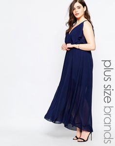 Boohoo Plus Double Layer Maxi Dress