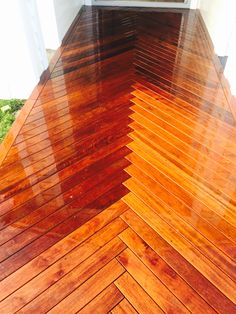 Herringbone deck