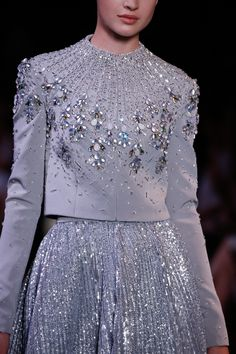 New embroidery clothes couture georges hobeika ideas Haute Couture Style, Couture Details, Fashion Details, Fashion Design, Couture Embroidery, Embroidery Fashion, Embroidery Dress, Couture Embellishment, Bead Embroidery Patterns