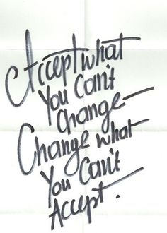 Acceptance and change