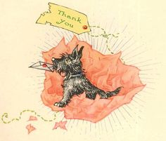 Thank you Scottie Card by TheReimaginedPast on Etsy, $3.50