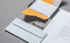 Stationery with die cut detail for bar and restaurant Junction Moama designed by Seesaw